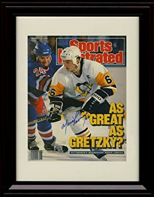 Framed Mario Lemieux Sports Illustrated Autograph Replica Print - Pittsburgh Penguins