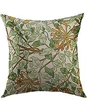 Kuddöverdrag prydnadskudde överdrag vintage William Morris kaprifol i grönt hem dekorativ prydnadskudde överdrag örngott