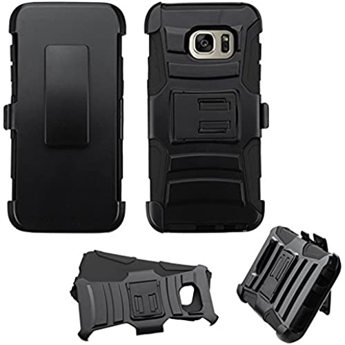 Samsung Galaxy S7 Edge Case Holster Bundle, JoJoGoldStar Heavy Duty Plastic and Silicone TPU Cover with Swivel Sales