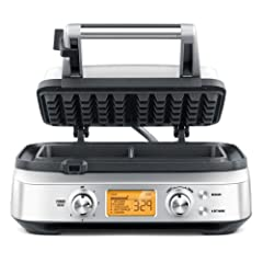 the Smart Waffle™ Pro 2 Slice2-slice Waffle Maker with LCD display.Automatically calculates the correct cooking time for whatever style of waffle & color you select. Once the lid is closed, the timer and progress indicator will automatically begi...