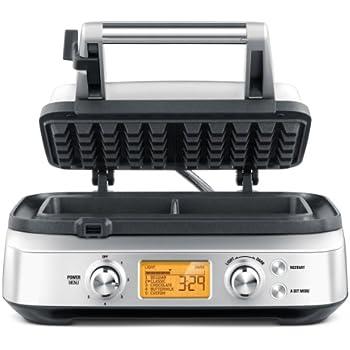 Breville BWM620XL The Smart 2 Slice Waffle Maker, Silver