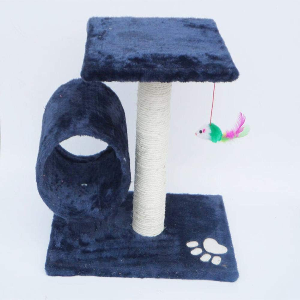 bluee Deluxe Multi Cat Tower Cat Climbing Tree Drilling cat Table cat Climbing Frame cat Trees sisal Column Grinding Claw cat nest cat Jumping 36cm 25cm  35cm (color   bluee)