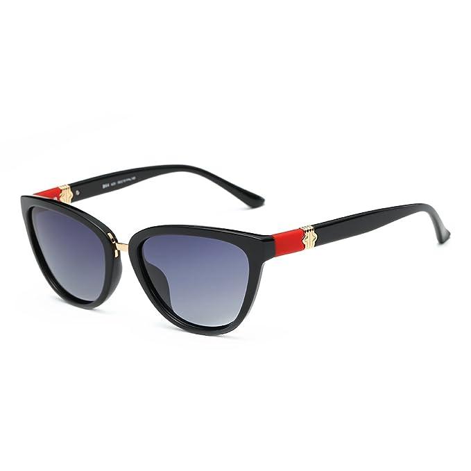 88a4fc9644e DONNA Women s Vintage Polarized Cat Eye Sunglasses Oversized Trendy  Celebrity Style D64-A25