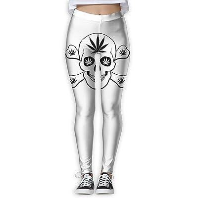 Houde Ankang Weed Skull Women's Yoga Trousers Sweatpants