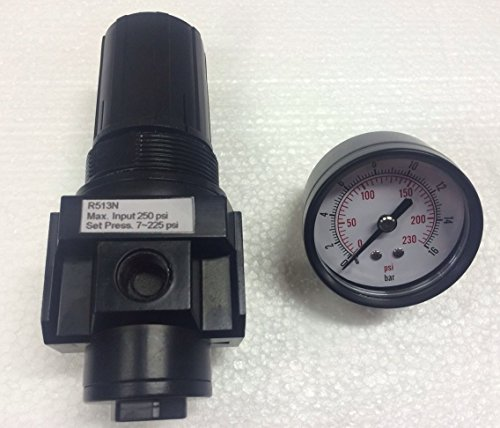 "THB 3/8"" NPT Heavy Duty Regulator with Gauge Replacement ..."
