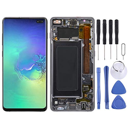 AN-JING LCD Screen and Digitizer Full Assembly with Frame for Galaxy S10+ Accessory Replacement Parts
