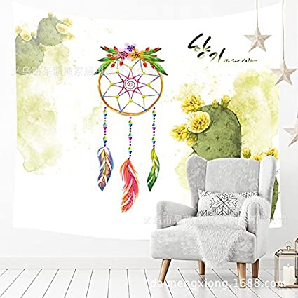 230 150CM Tapestry Tapestries Decor Wall hanging Wall background cloth feather watercolor hang cloth room dormitory tapestry wall 210260