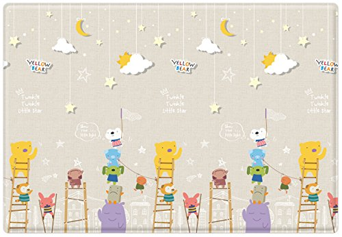 Parklon Pure Soft Mat in Yellow Bear Little Star and English Play, (Yellow Soft Bear)