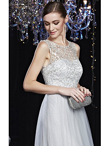 Grau Emily Spitze Ansatz Ohne Pailletten Arm Abendkleider O Sash Beauty pqxOCf6