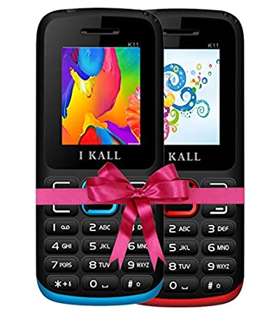 0bb7c37bc00 IKALL K11 Dual Sim 4.57 cm (1.8 Inch) Mobile Phone Combo - (Blue   Red)   Amazon.in  Electronics