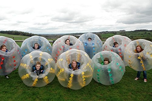 HolleywebTM Bubble Soccer Ball Suit Dia 5' (1.5m) Inflatable Body Zorbing Bumper Ball Game for Adults 9 Balls Package (Human Water Hamster Ball)