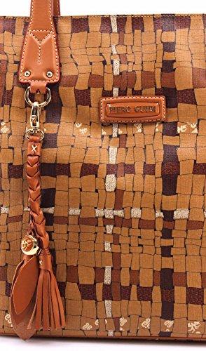 Borsa a Mano Donna PIERO GUIDI 31A051529 Col52 Pelle Beige Made In Italy Nuova
