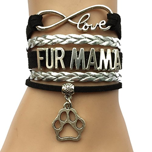 DOLON Brand Fur Mama Bracelet Animal Dog or Cat Paw Charm Puppy Lover Gift