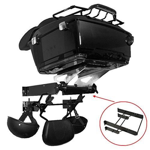 XMT-MOTO Tour Pak Pack Accessory Motor Storage Rack Fits Harley Touring Wall Mount(Black,1 PCS) ()
