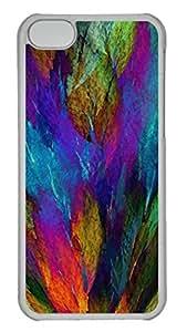 Flower Petals Personalized Custom Hardshell Back Case for iphone 5C Transparent -1126035