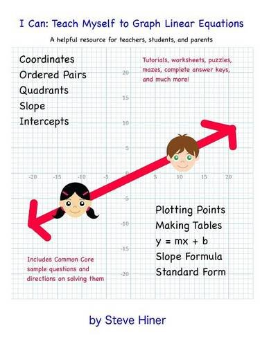Counting Number worksheets graphing coordinates pictures worksheets : I Can: Teach Myself To Graph Linear Equations: Steven Hiner ...
