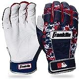 Franklin Sports CFX Pro Digi Series Batting Gloves Pearl/Navy/Red Camo Adult Large