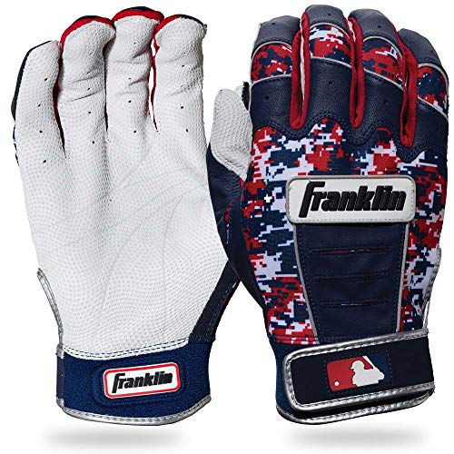 Franklin Sports CFX Pro Digi Series Batting Gloves Pearl/Navy/Red Camo Youth Large