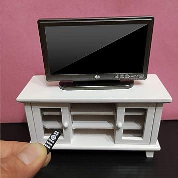 Amazon.es: Zerodis Dollhouse Miniature TV Toy, Simulation Miniature TV Television con Control Remoto Decoración de Dollhouse para 1/12 Accesorios de casa de muñecas: Juguetes y juegos