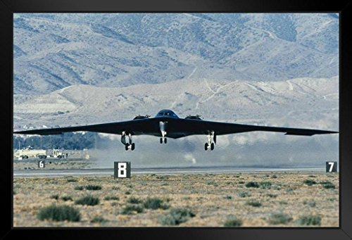 - United States Air Force Stealth Bomber Taking Off Photo Art Print Framed Poster 20x14 inch