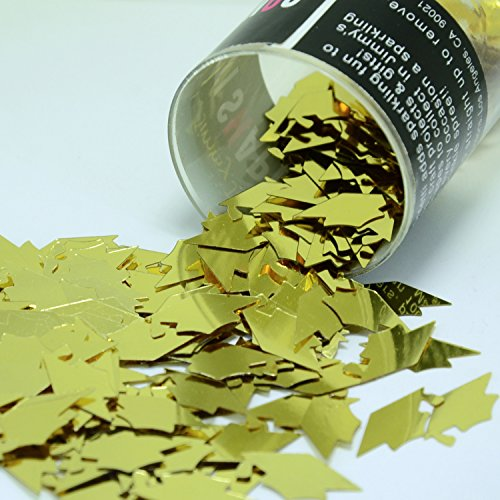 Confetti Grad Caps in Gold - Retail Pack #8404 - Free Ship