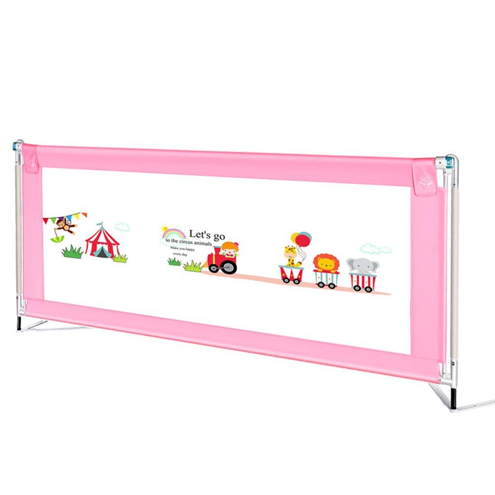 + ベッドサイドベビーガードレールベビーセーフティガードレール垂直持ち上げ1.5-2m大きなベッドユニバーサル折りたたみと収納が簡単 ## (色 : Pink, サイズ さいず : 200cm) B07KF3ZV5H Pink 200cm