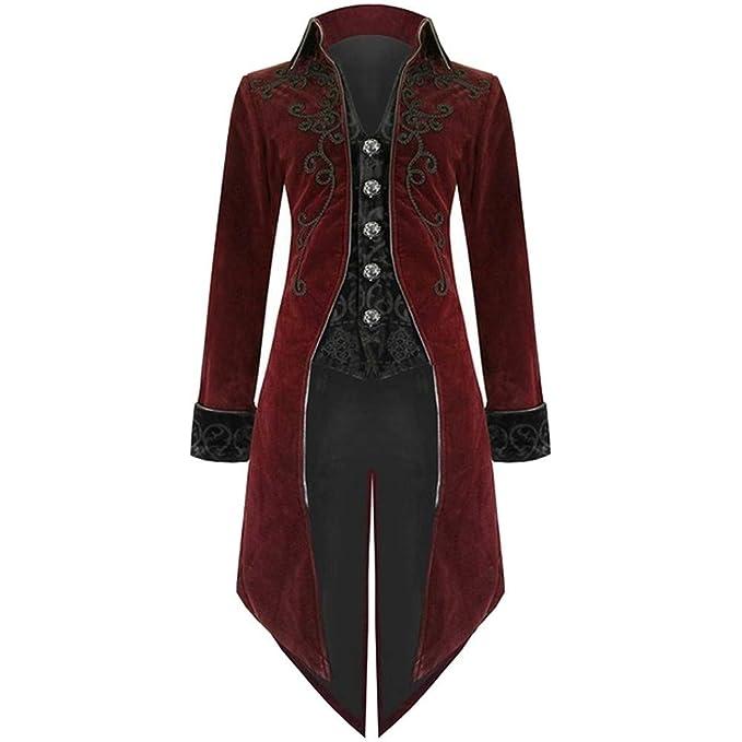 Bestow Escudo Retro de los Hombres gótico Vestido de Noche Solapa Swallowtail Etapa Chaqueta de la Chaqueta suéter Chaleco: Amazon.es: Ropa y accesorios