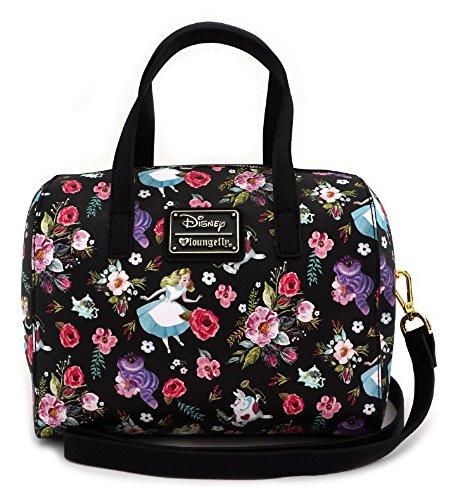 Alice In Wonderland Tote Bag - Loungefly x Disney's Alice in Wonderland Floral Barrel Handbag