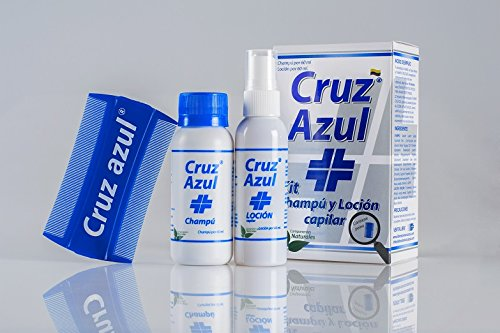 Amazon.com : Cruz Azul Treatment Shampoo and Lotion for lice and nits Extremely Efective Guaranteed (Blue Cross) Natural Ingredients | Tratamiento Champu y ...