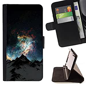 For Samsung Galaxy S6 Edge Plus Raven B&W Style PU Leather Case Wallet Flip Stand Flap Closure Cover