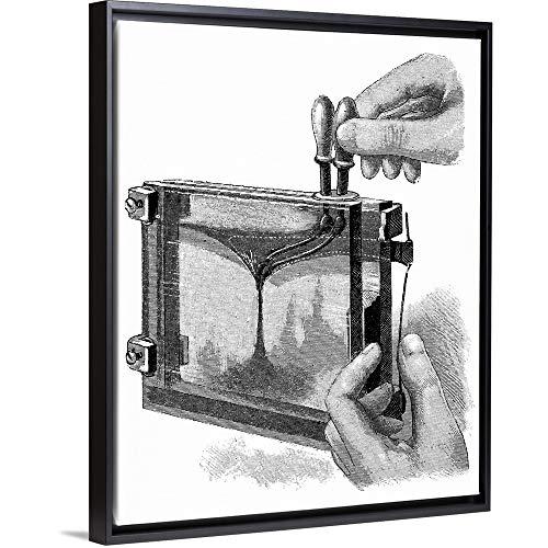 Magic Lantern Display, 19th Century Black Floating Frame Canvas Art, 13