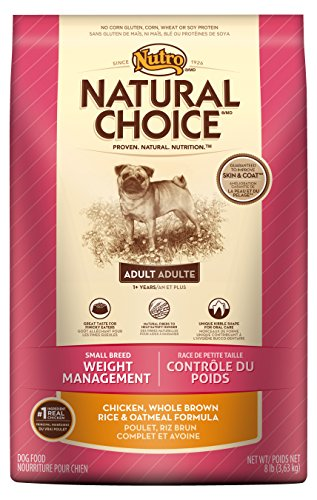 Nutro NATURAL CHOICE Small Breed Weight Management Chicken Dry Dog Food, 8 lbs.