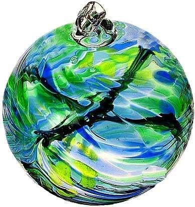 May Birthday Wish Birthstone Hanging Witch Ball Ornament 6
