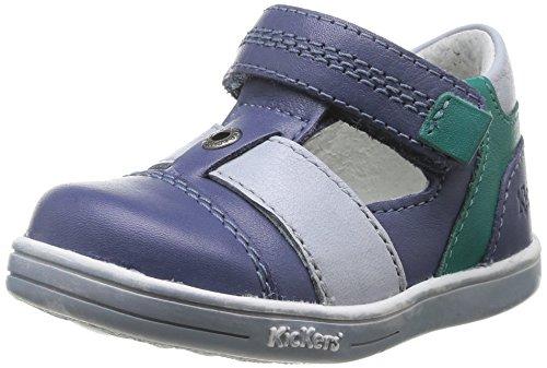 Kickers Tropicali Baby Jungen Krabbelschuhe Blau - Bleu (Marine/Vert)