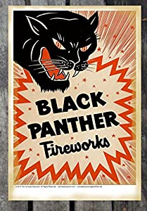 Amazon.com: Vintage Black Panther Fireworks 1940's Fine ...