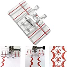 Yeefant 1PC Clear Plastic Parallel Stitch Foot Presser For Home Domestic Sewing Machine