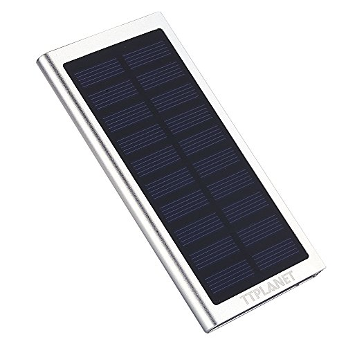 Solar Ladegerät superdünn 20000mAh Solar Powered Bank Dual USB Tragbares Ladegerät für iPhone 6S/66PLUS 5S, Samsung und andere