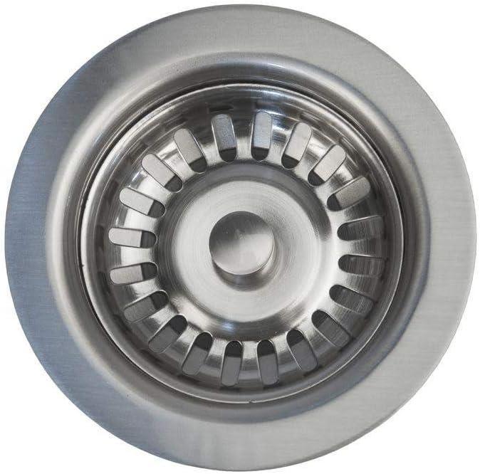 "3.5"" Kitchen, Prep, Bar Basket Strainer Drain - Brushed Nickel (PCP-D-132BN)"