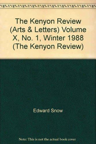 The Kenyon Review (Arts & Letters) Volume X, No. 1, Winter 1988 (The Kenyon Review)