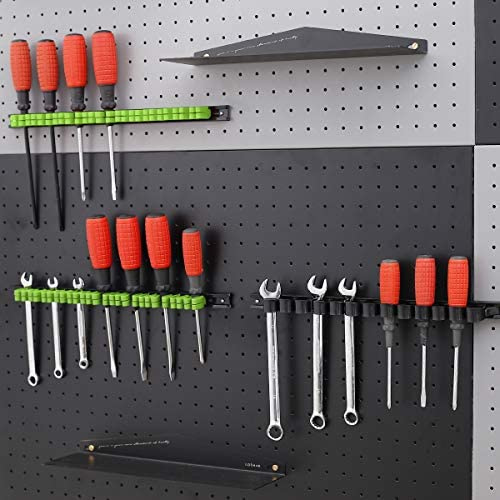 Organizer Handwerkzeug-Halter Werkzeughalter//Klammer-Leisten-Set 3-H 4 St/ück Schraubendreher-Organizer und Schraubenschl/üssel Inkl 2 schwarz 2 rot Schrauben und D/übel