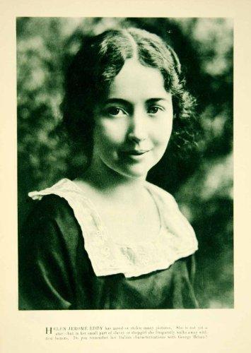 1920 Rotogravure Helen Jerome Eddy Quiet Film Actress Motion Pictures Movies - Original Rotogravure