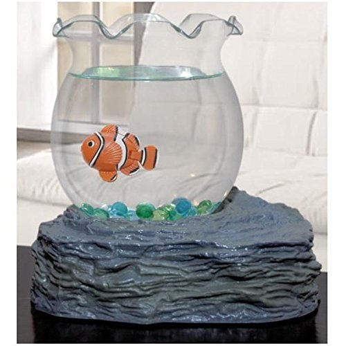 Fish Bowl With Swimming Fish by Westminster (Clown Fish Tank)