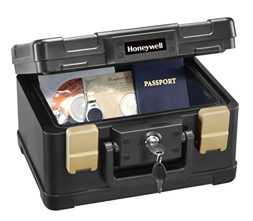 Honeywell 30 Minute Fire Safe Waterproof Safe Box Chest with Carry Handle, Small, 1102