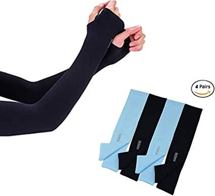 SUNLAND UV Protection Sleeves for Arm Women Men Fast Drying Sunblock Sleeves Cooling Arm Sleeves for Outdoor Sports,Cycling,Driving,Running