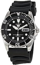 Seiko Men's SNZF17K2 Series 5 Rubber Strap Watch