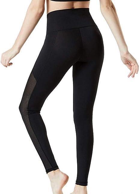 MINXINWY Pantalon Negro Mujer, Leggins Running Pants Pantalones de ...