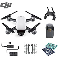 DJI Spark Palm launch, Intelligent Portable Mini Drone Bundle with Remote Contorller, Alpine White
