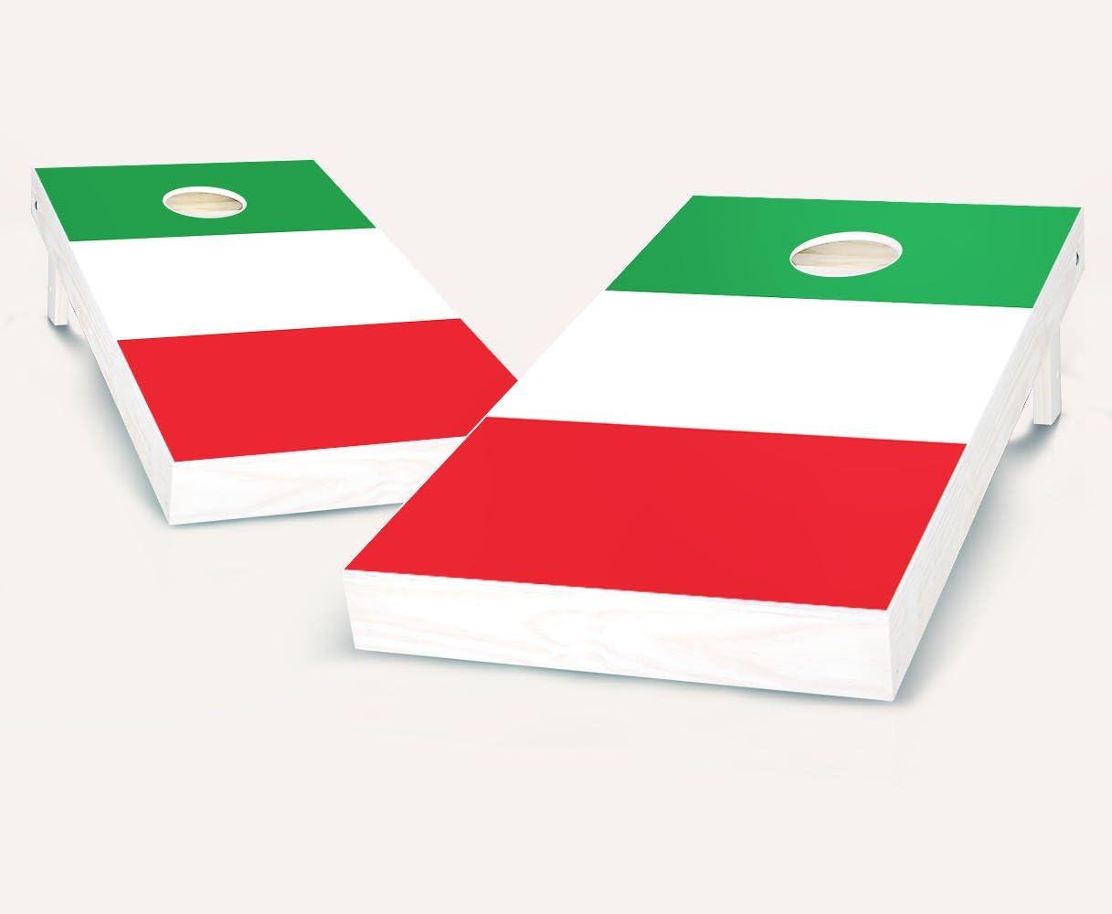 Italy Cornhole Italian Flag Cornhole Set With Bags Baggo Bean Bag Toss Set Cornhole Set Italian Flag Cornhole Set