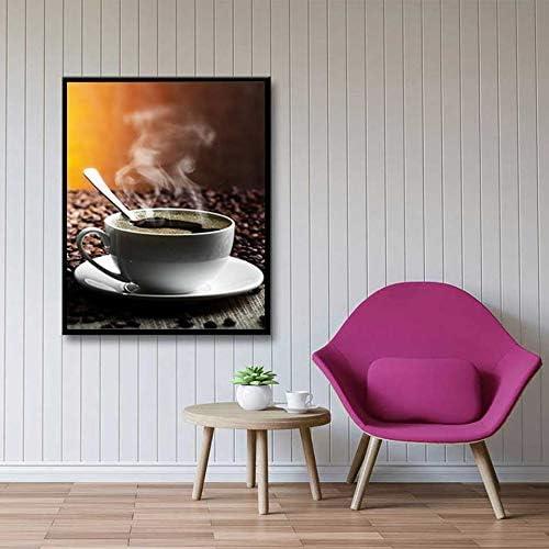 BailongXiao Decoración Moderna del café nórdico Cartel Lienzo Pintura Mural Sala Comedor cafetería decoración,Pintura sin marcoCJX3219-60X90cm