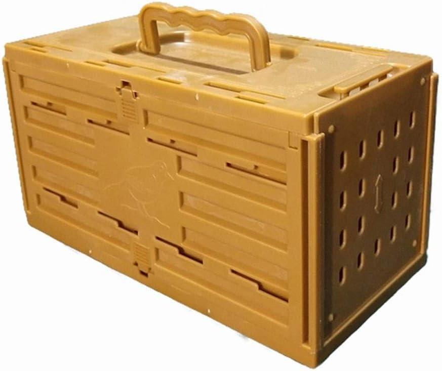 Jaulas para pájaros Mini Jaula de pájaros de plástico Jaula de Transporte para Mascotas Longitud apilable 20 cm * Ancho 10 cm * Altura 11 cm (Amarillo)